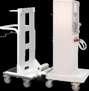 Dialysis Push Cart Angled with Fresenius