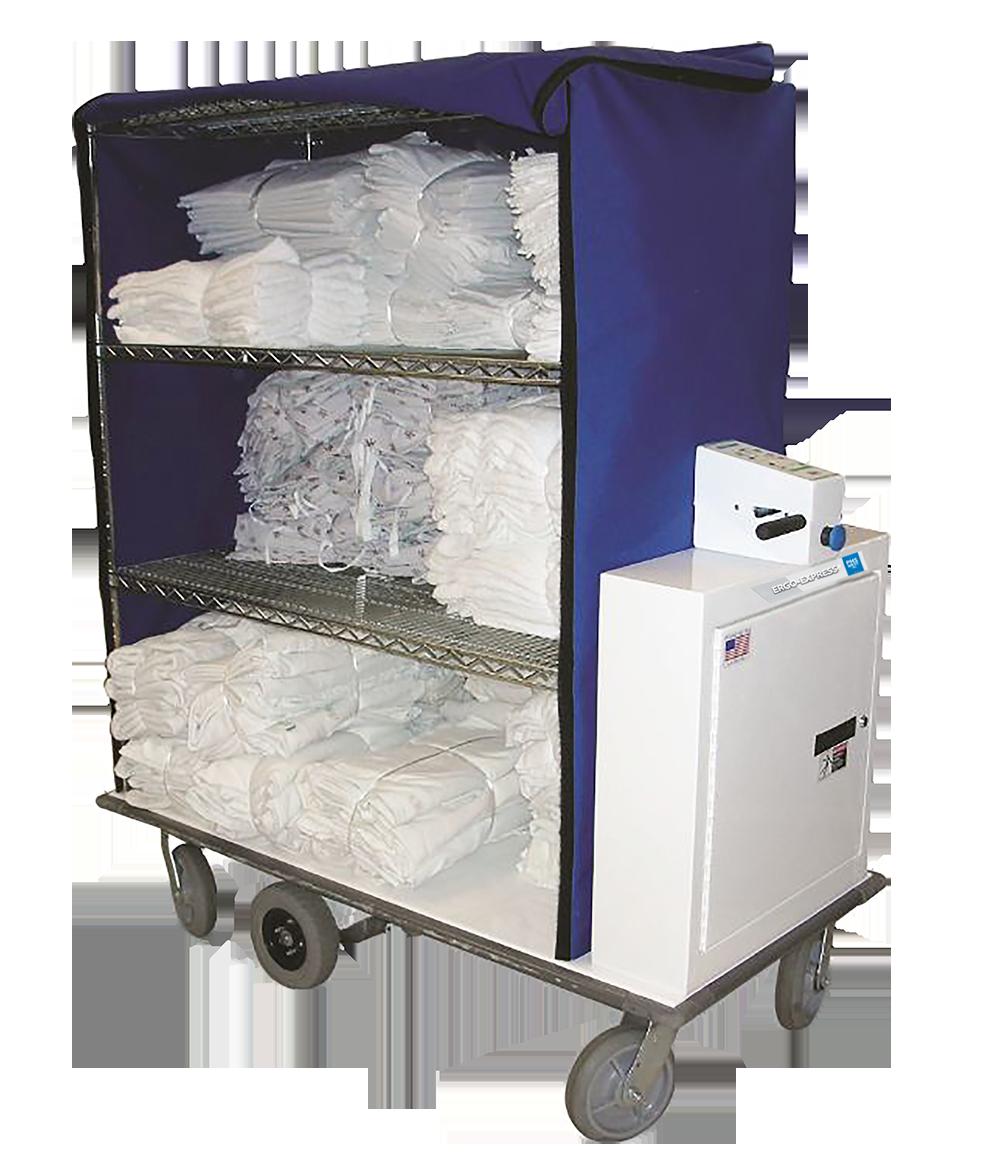 Ergo-Express motorized linen cart