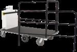 Ergo-Express motorized cart with rail kit - back