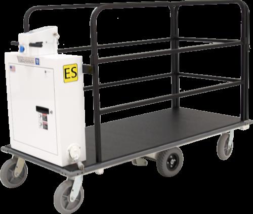 Ergo-Express motorized cart with rail kit - front