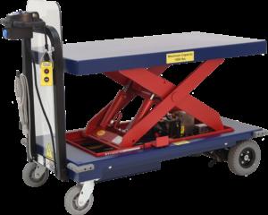Ergo-Express hydraulic scissor lift table cart - front