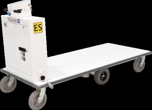 Ergo-Express motorized platform cart with extended deck - front